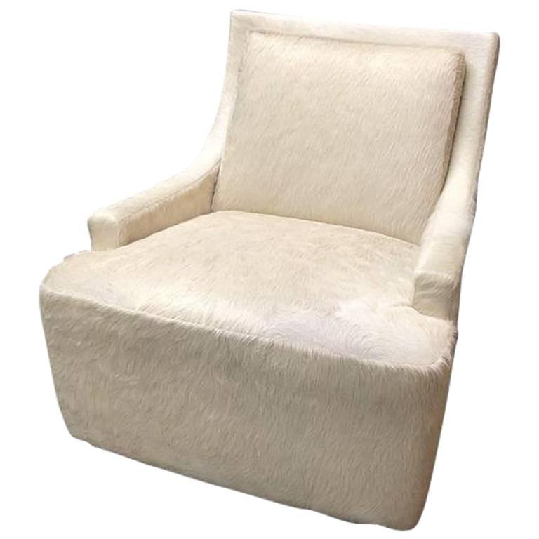 NEW Barbara Barry Scoop Swivel Cowhide Chair For HBF. Original Price:  $6,795.00   Design Plus Gallery