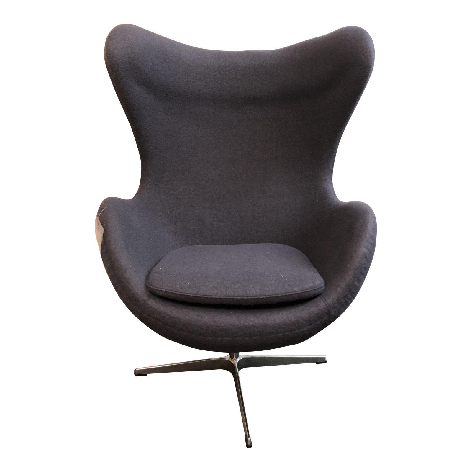 new blue gray wool egg chair original price 1 design plus gallery. Black Bedroom Furniture Sets. Home Design Ideas
