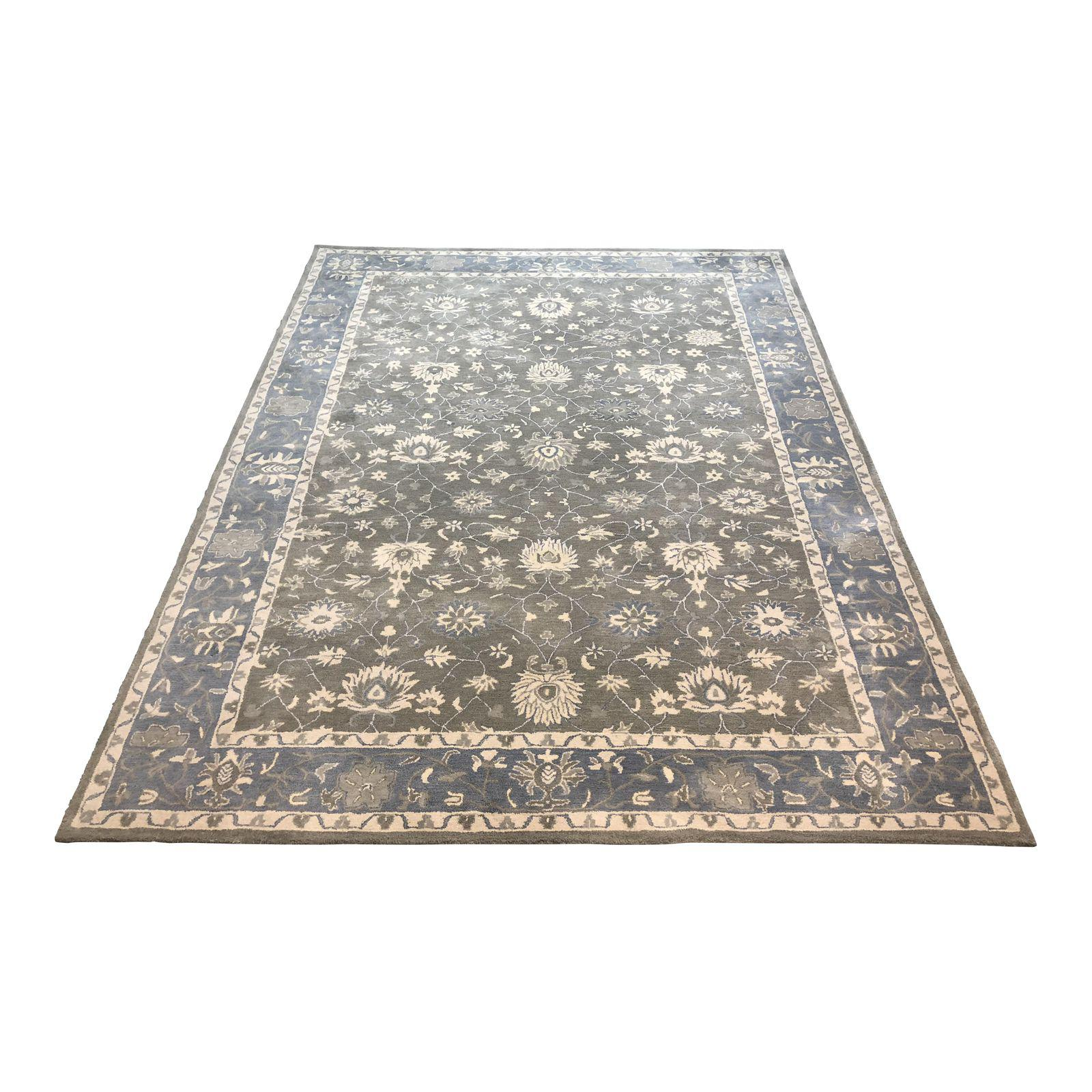 Pottery Barn Mila Hand Knotted Persian Style Rug 9 X