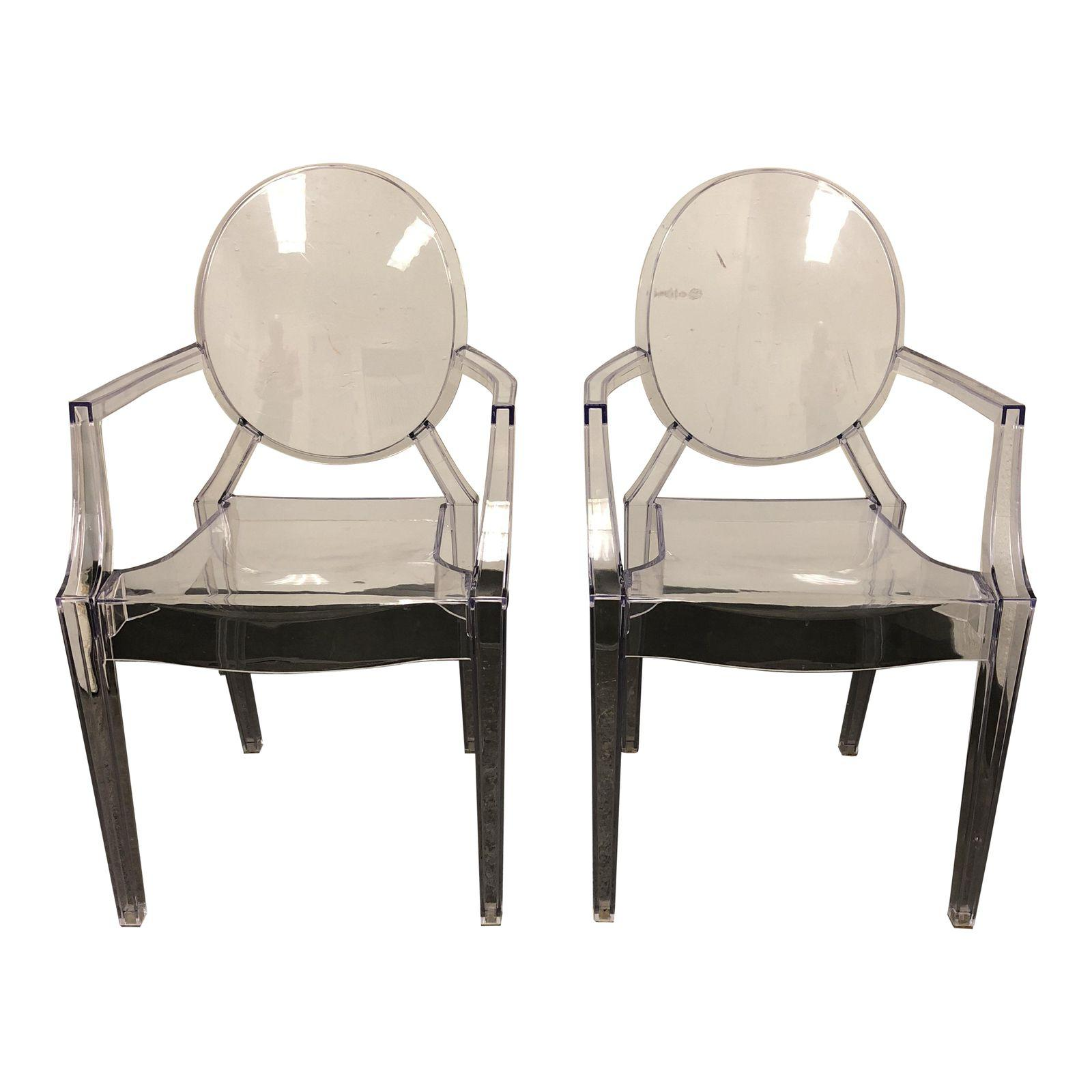 kartell style philippe starck ghost chairs a pair 0505 1 design