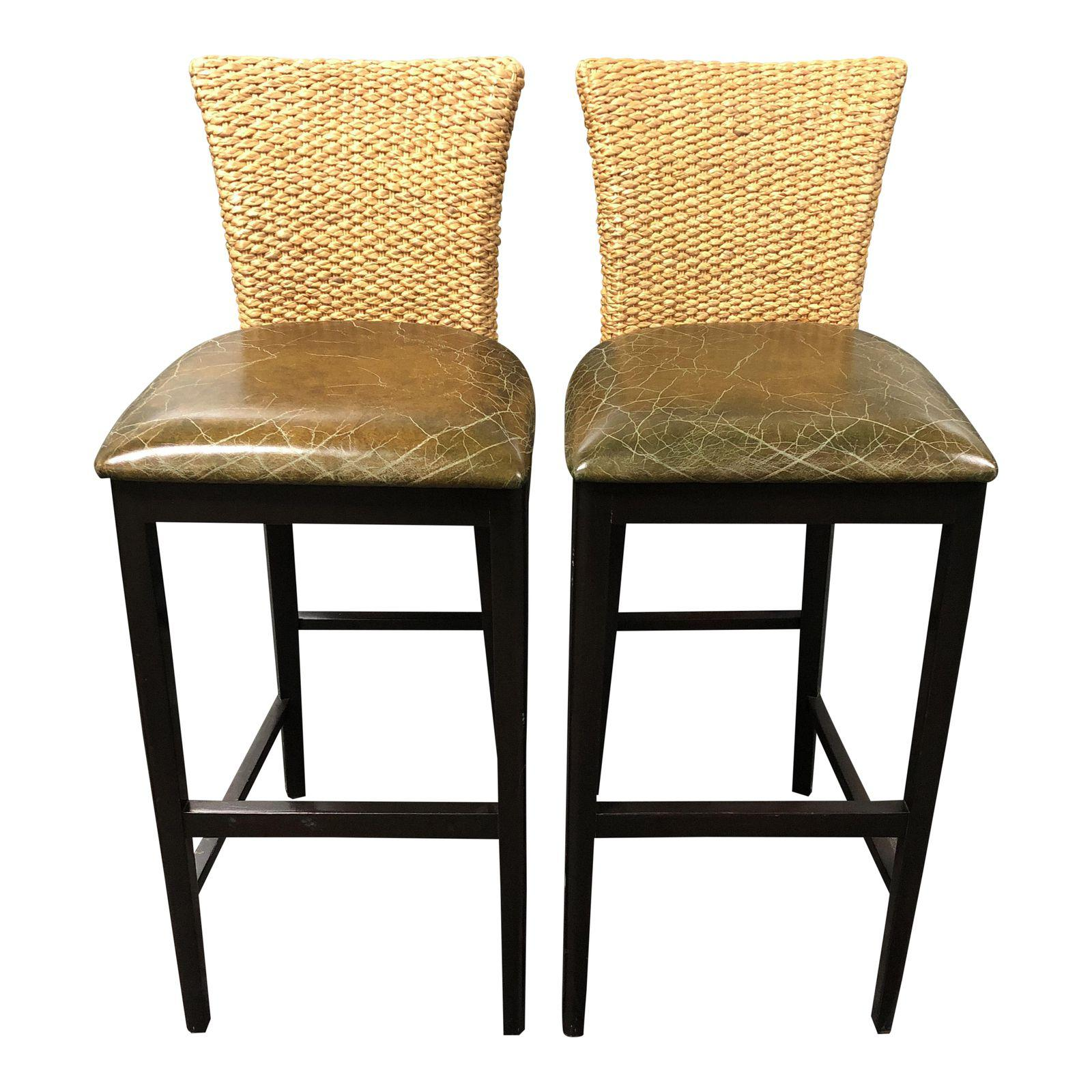 Nancy Corzine Sea Tone Barstools A Pair Original Price