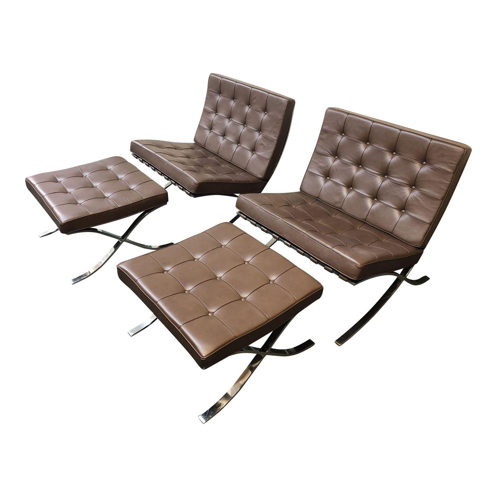 Knoll   Barcelona Chairs U0026 Ottomans   Set Of 4. Original Price: $15,000.00    Design Plus Gallery