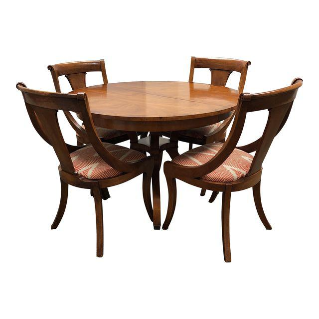 Vintage Wood Dining Table + Four Chairs U2013 Dining Set