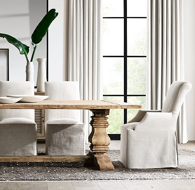 Restoration Hardware Salvaged Trestle Extension Table