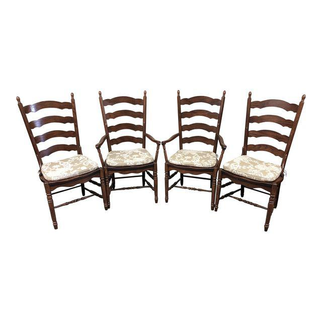 Fabulous Amish Ladder Back Dining Chairs Set Of 4 Design Plus Gallery Download Free Architecture Designs Grimeyleaguecom