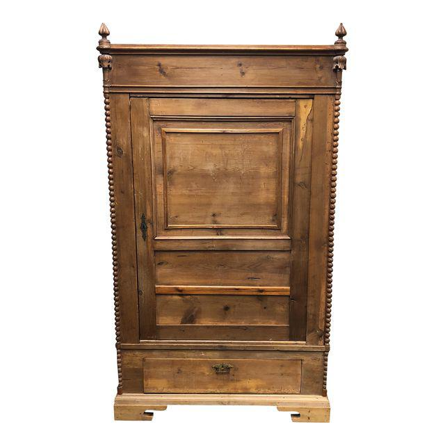 antique belgian beadwork pine armoire design plus gallery. Black Bedroom Furniture Sets. Home Design Ideas
