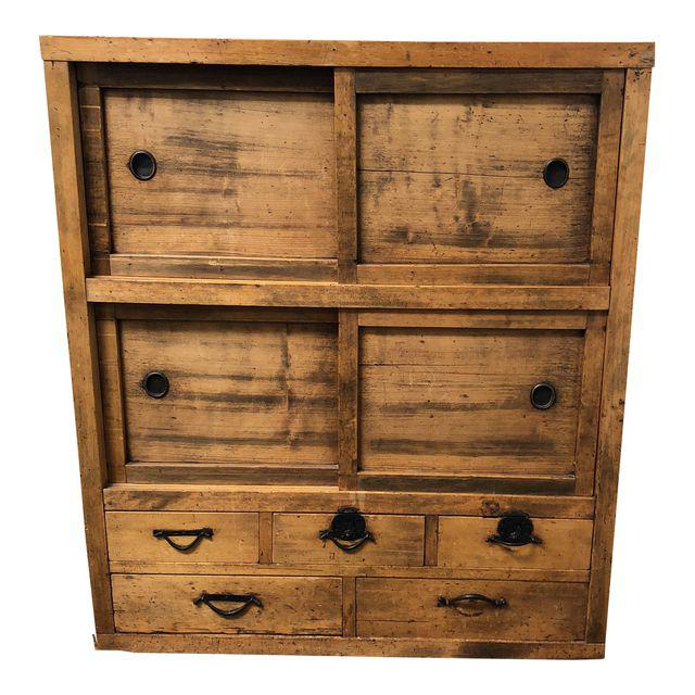 Antique Japanese Tansu Chest of Drawers. Original Price: $2,740.00 - Design  Plus Gallery - Antique Japanese Tansu Chest Of Drawers. Original Price: $2,740.00