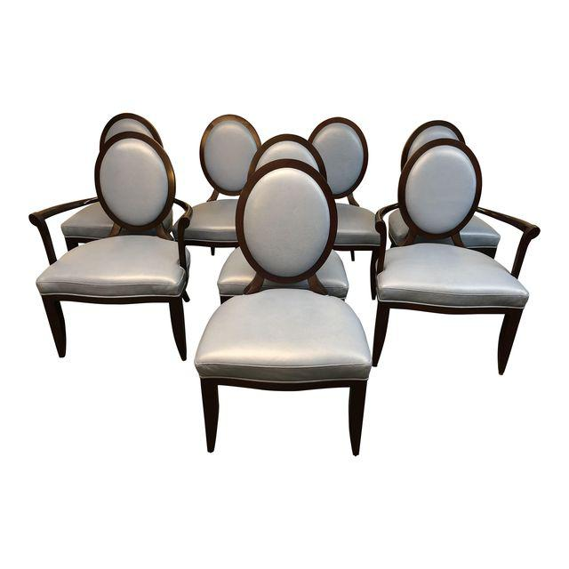 Baker Furniture Oval X Back Barbara Barry Dining Chairs Set Of 8 6039