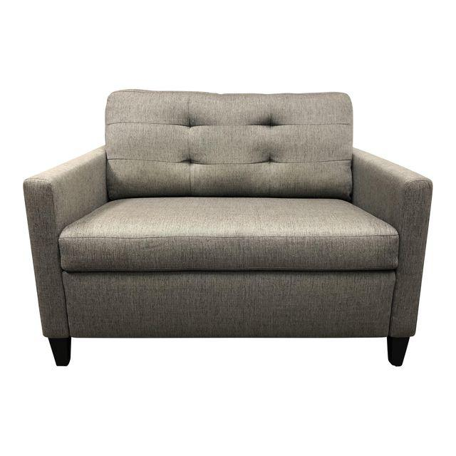 Crate U0026 Barrel Gray Upholstered Oversized Sleeper Sofa/Chair. Original  Price: $3,042   Design Plus Gallery