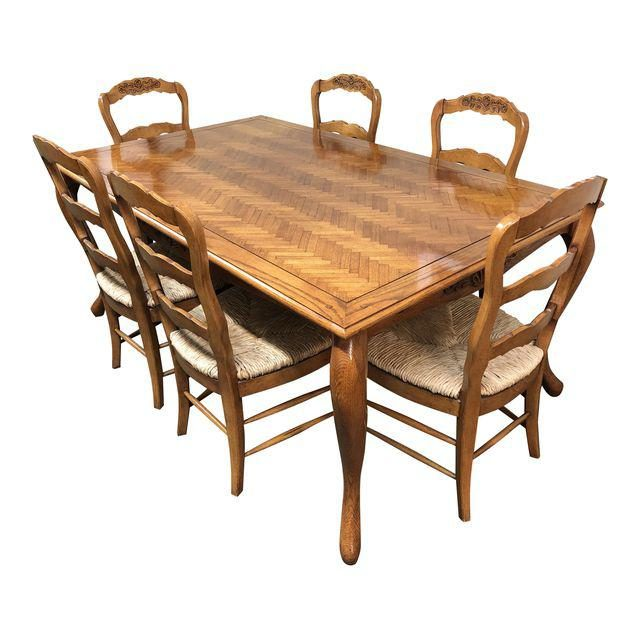 Fremarc Chateau/Country Dining Set   Set Of 7. Original Price: $16,000.00    Design Plus Gallery