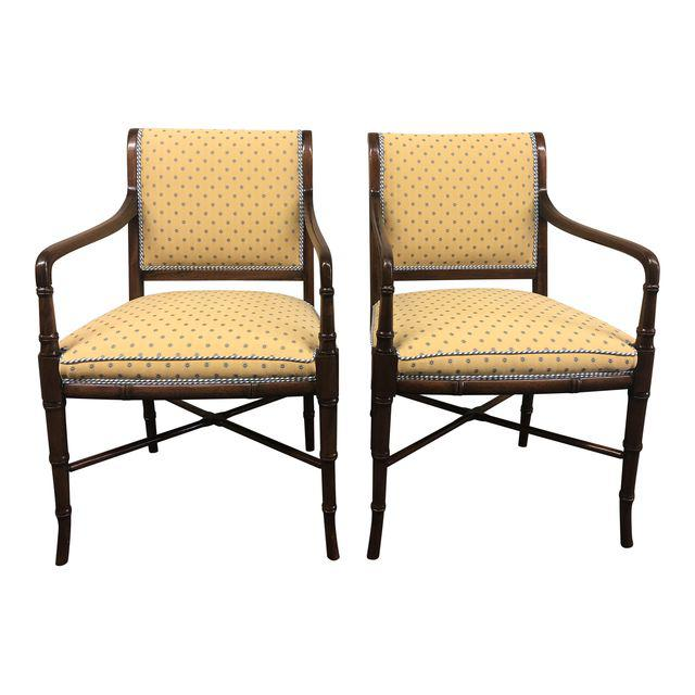 Maitland Smith Custom Upholstered Arm Chairs U2013 A Pair. SALE!