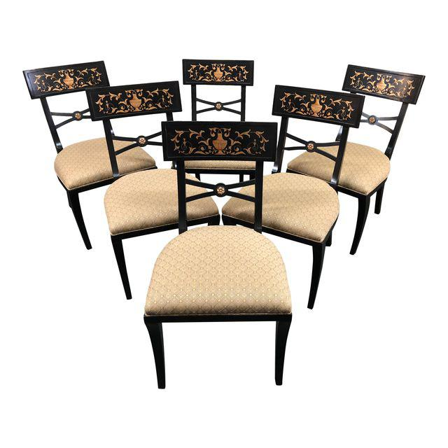 1960s Neoclical Baker Furniture Dining Chairs Set Of 6