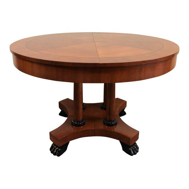 Baker Coffee Table Round: Neoclassical Baker Furniture Round Mahogany Dining Table