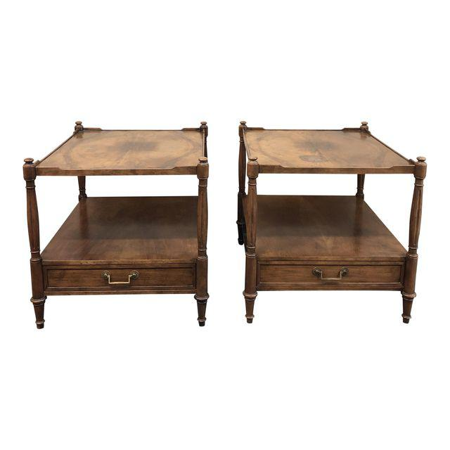 Baker Furniture Mid Century Side Tables A Pair