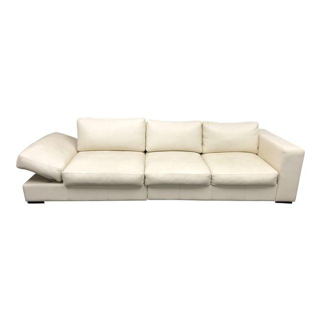 contemporary boconcept white leather celano sofa original price 8 500 design plus gallery. Black Bedroom Furniture Sets. Home Design Ideas