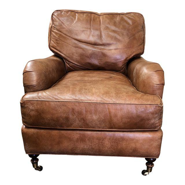 Lee Industries Distressed Leather Armchair 3164
