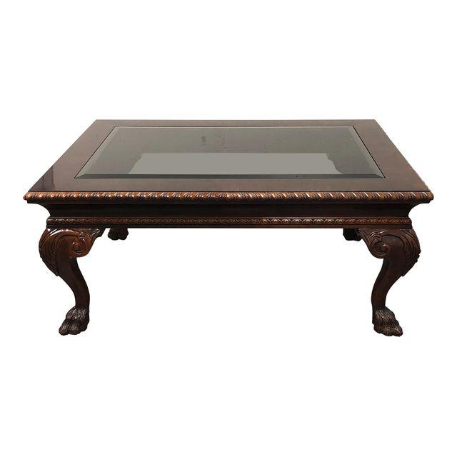 Baker Furniture Mahogany Gl Coffee Table