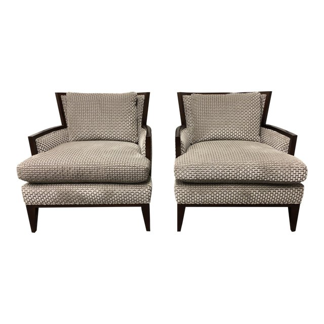 Barbara Barry California Lounge Chairs For Baker Furniture   A Pair.  Original Price: $13,806   Design Plus Gallery
