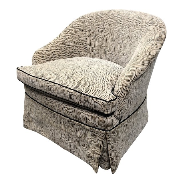 Contemporary Marco Fine Furniture Custom Beige Leatherette Chair