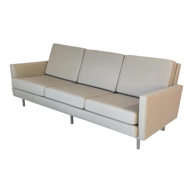 Mid Century Modern Modernica Taupe Fabric Sofa Case Study Couch Original Price 2 585 Design Plus Gallery