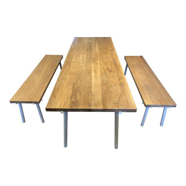 Organic Modern Blu Dot Branch Dining Table And Benches 3