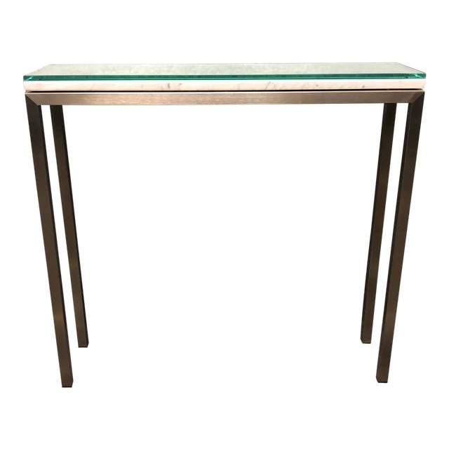 Room Board Portica Marble Glass Console Table Design Plus Gallery - Room and board console table
