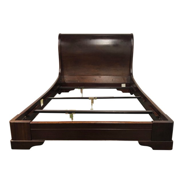 Queen Size Restoration Hardware Marston Sleigh Bed Without Footboard ...