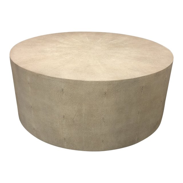 Resource Decor Ayden Ivory Faux Shagreen Coffee Table. Original Price:  $1,123.00   Design Plus Gallery