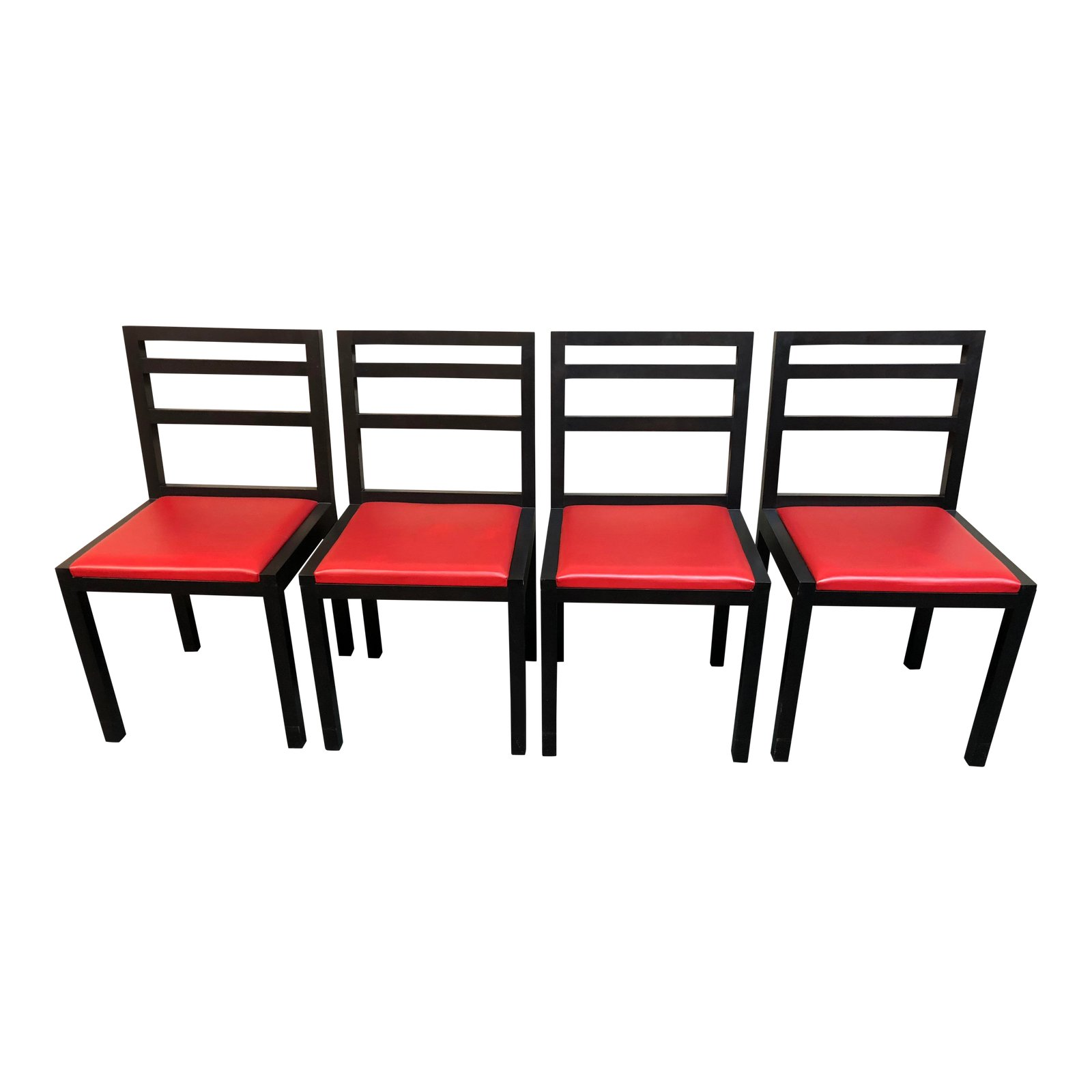 Modern Black And Red Dining Chairs Set Of 4