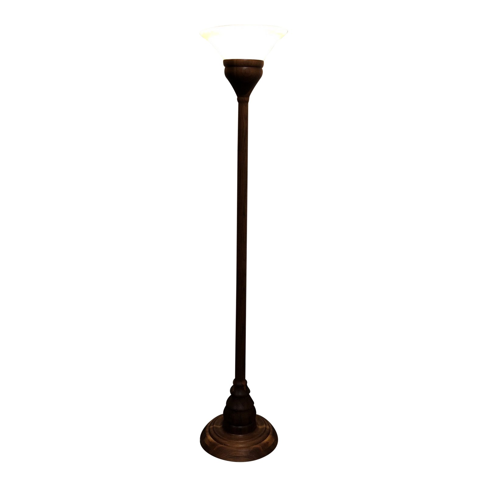 Mid century cherry wood torchiere floor lamp design plus gallery aloadofball Image collections