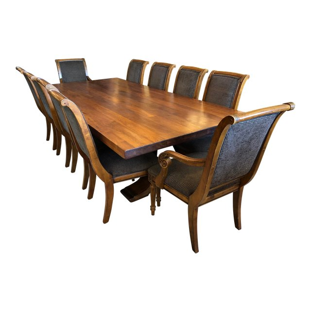Ralph Lauren Trestle Table Ethan Allen Dining Chairs Design Plus