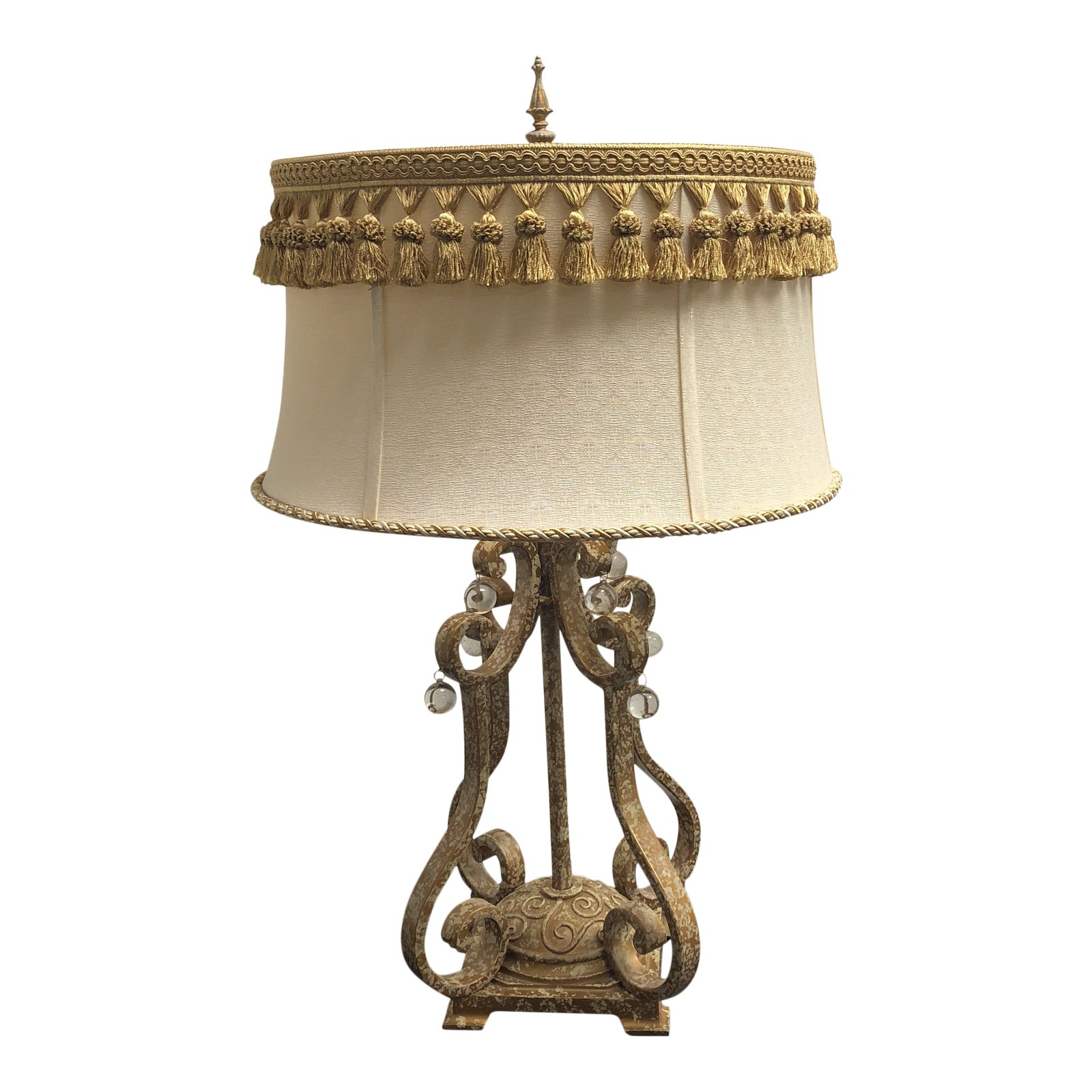distressed table lamps shabby chic rococo distressed gold finish table lamp design plus gallery