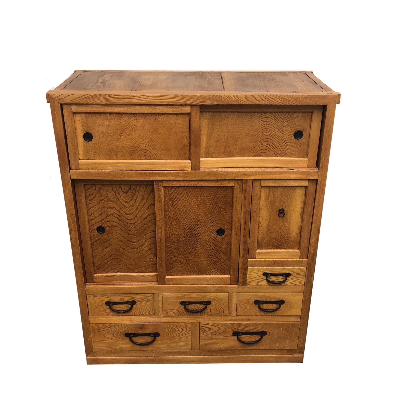20th Century Japanese Wooden Tansu Cabinet