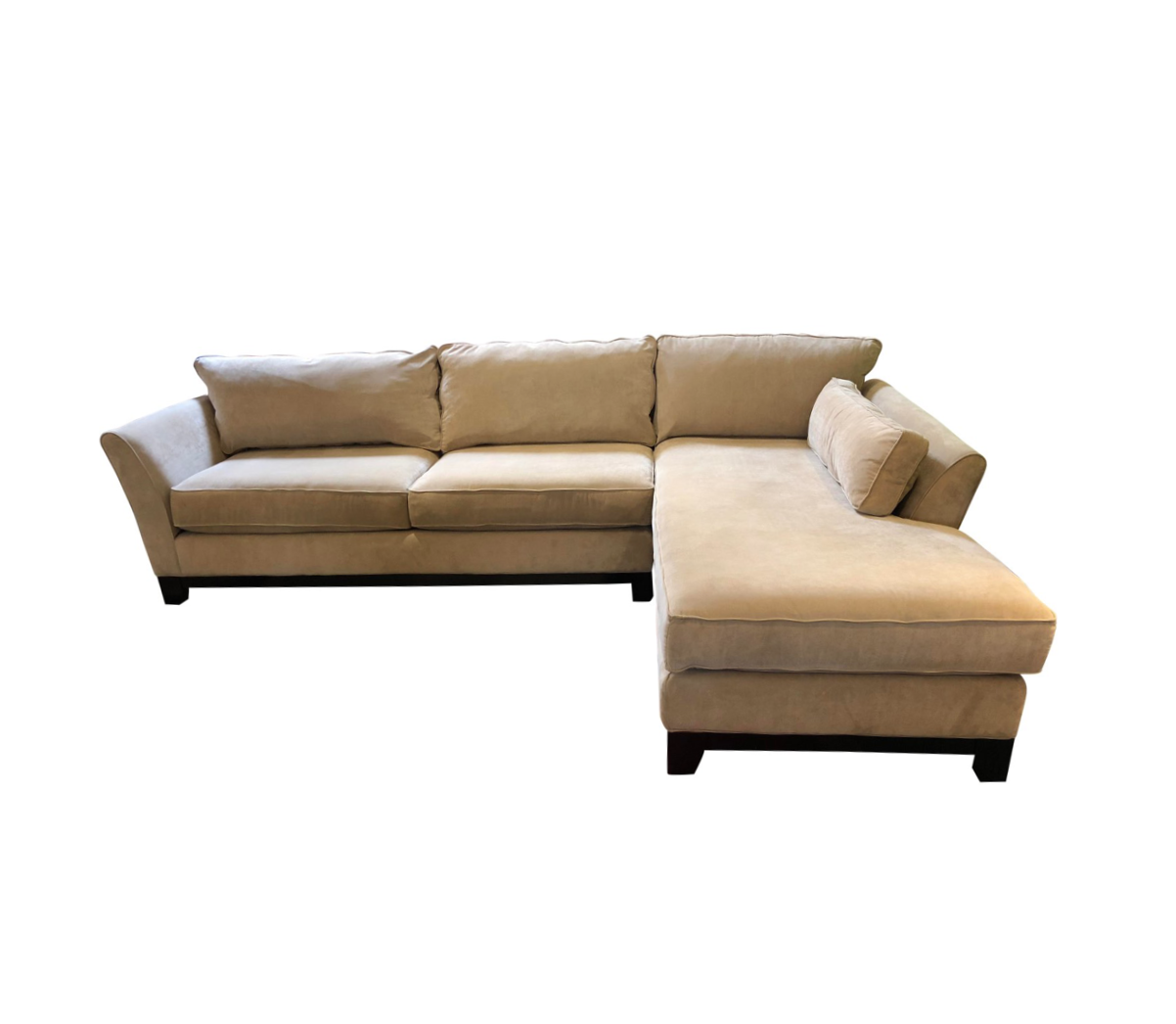 Two Piece Beige Sectional Sofa Original Price 2 700 00