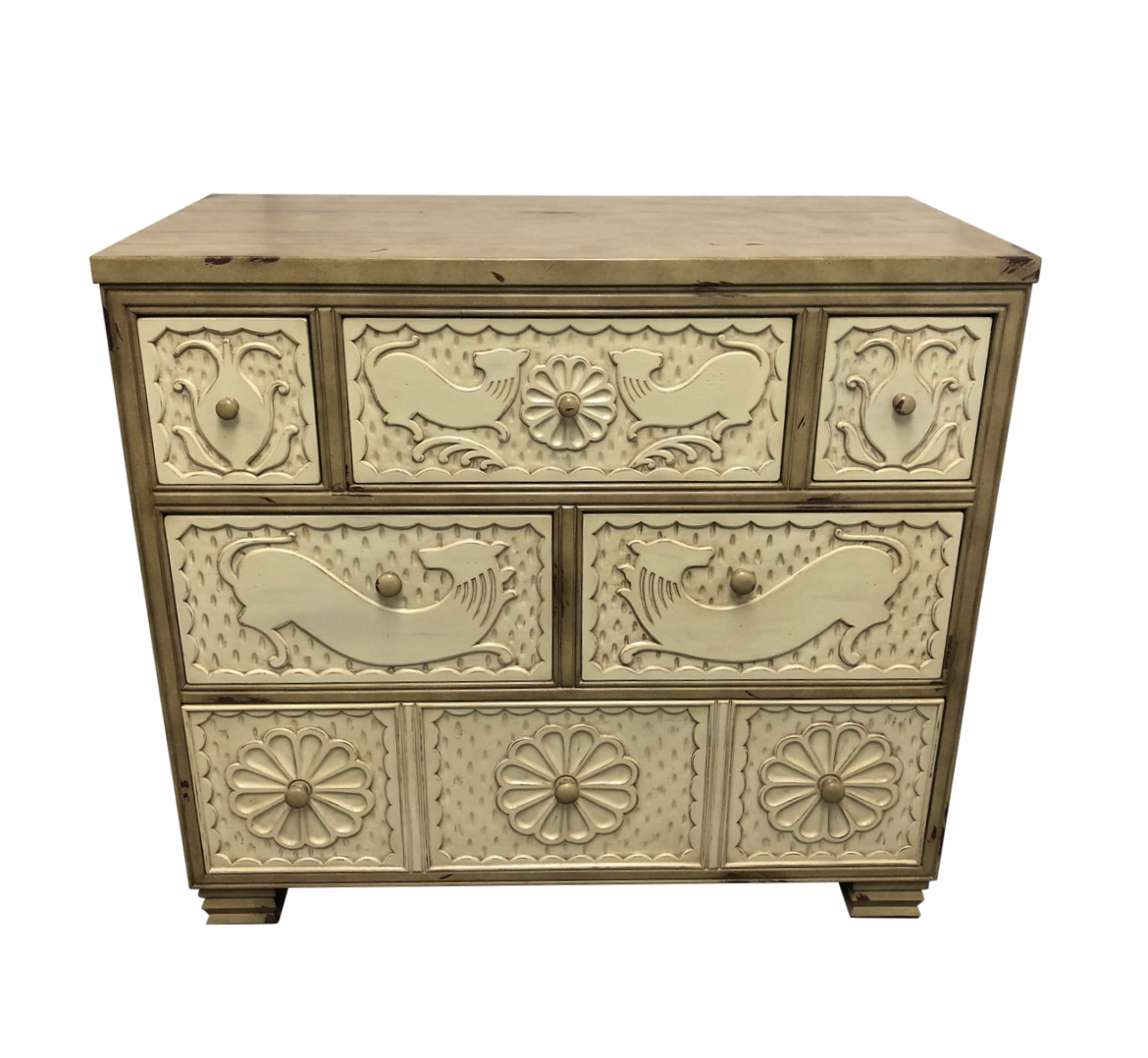 New Hickory Chair Furniture Company Carved Chest Original Price