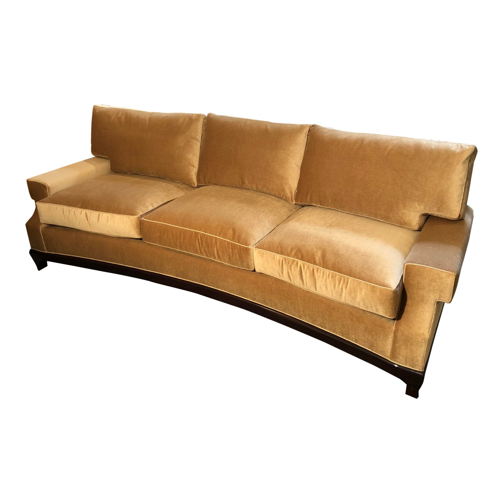 A Rudin Custom No 2519 Gold Mohair Sofa Original Price 12 000 00