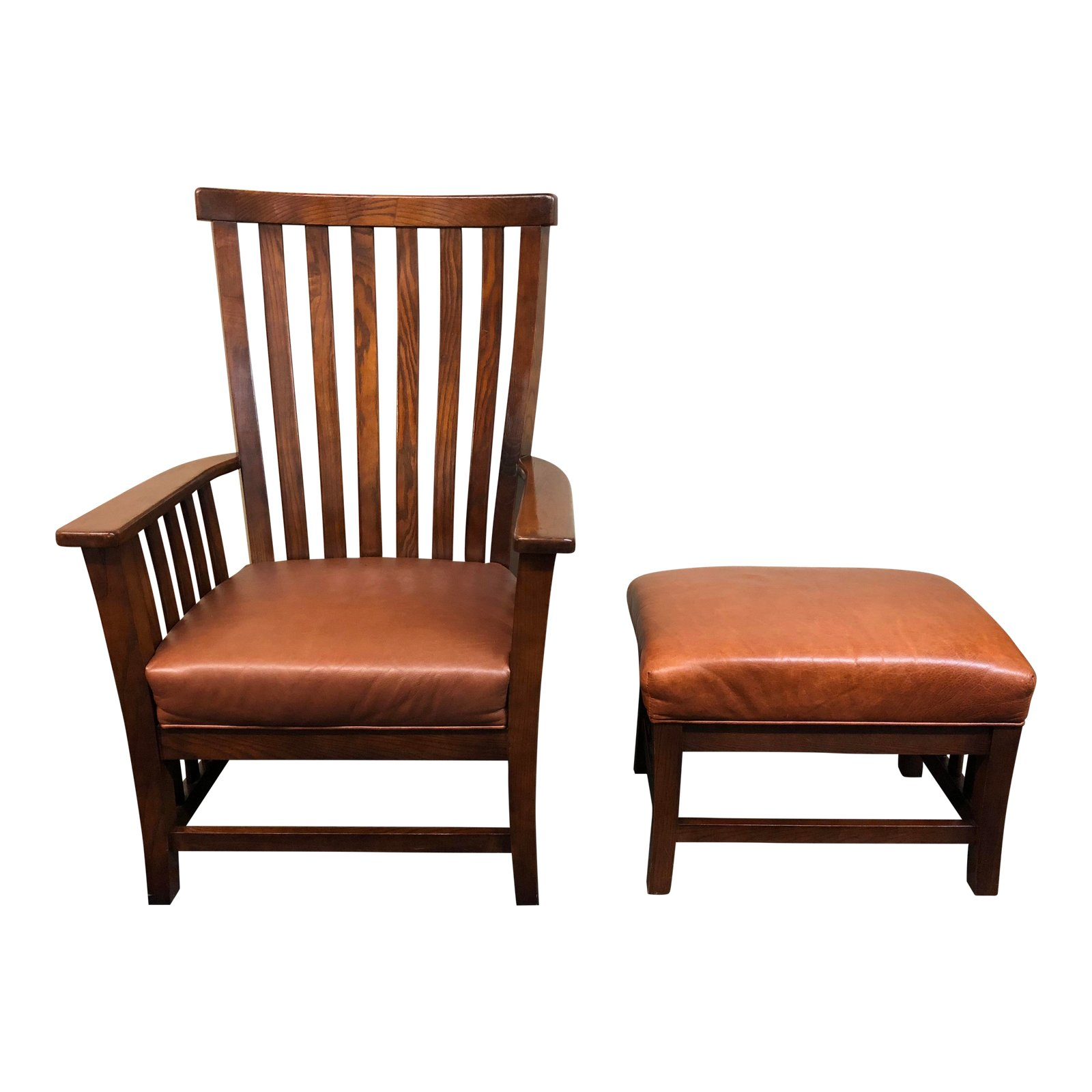 Brilliant Mccreary Modern Arts Crafts Style Chair And Ottoman 2 Onthecornerstone Fun Painted Chair Ideas Images Onthecornerstoneorg