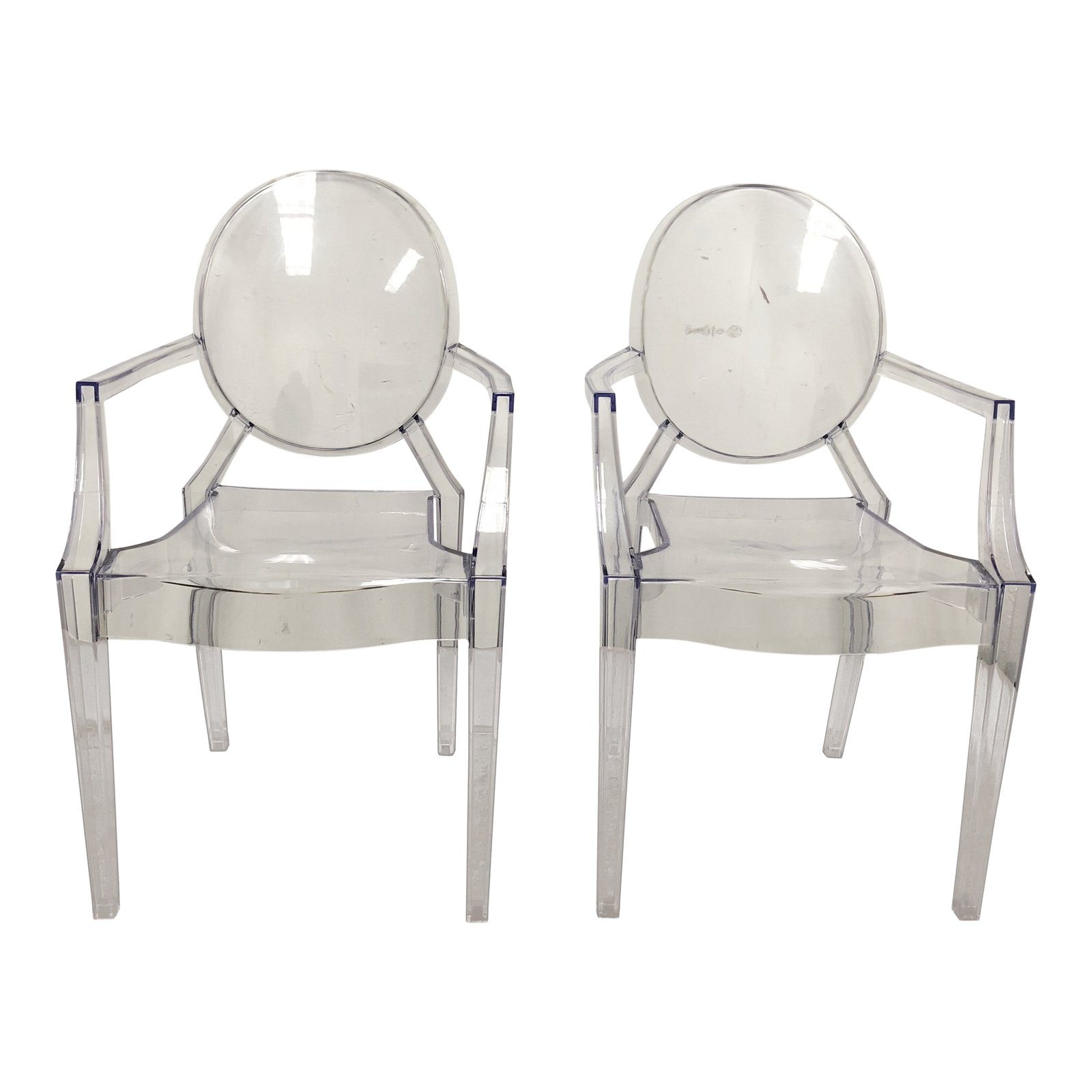 Philippe Starck Style Ghost Chairs A Pair Design Plus