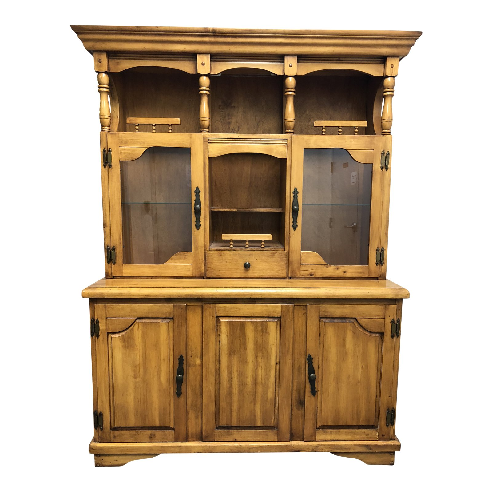Charmant Traditional Wood Two Piece China Cabinet