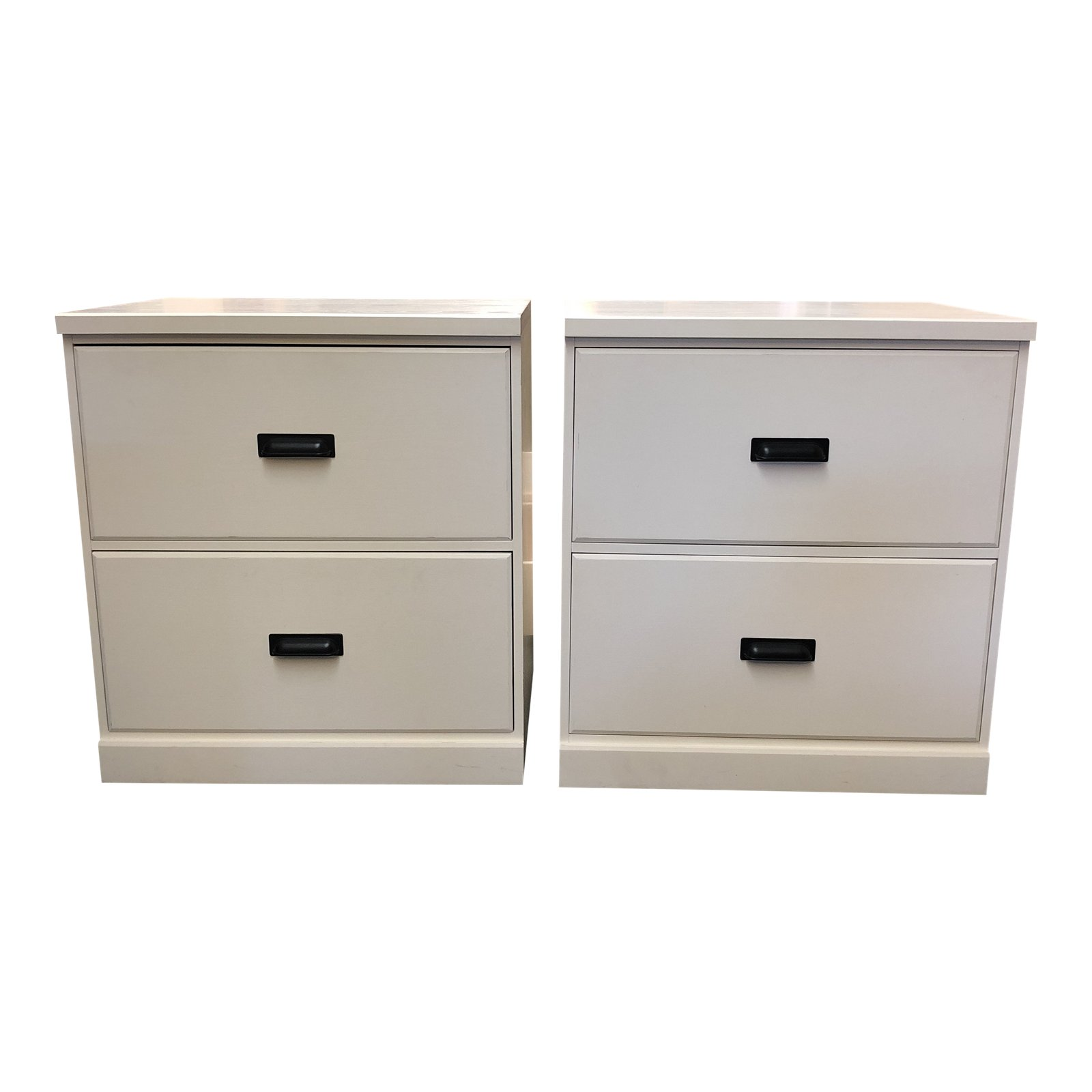 Outlook Pair Of Two Drawer Side Tables
