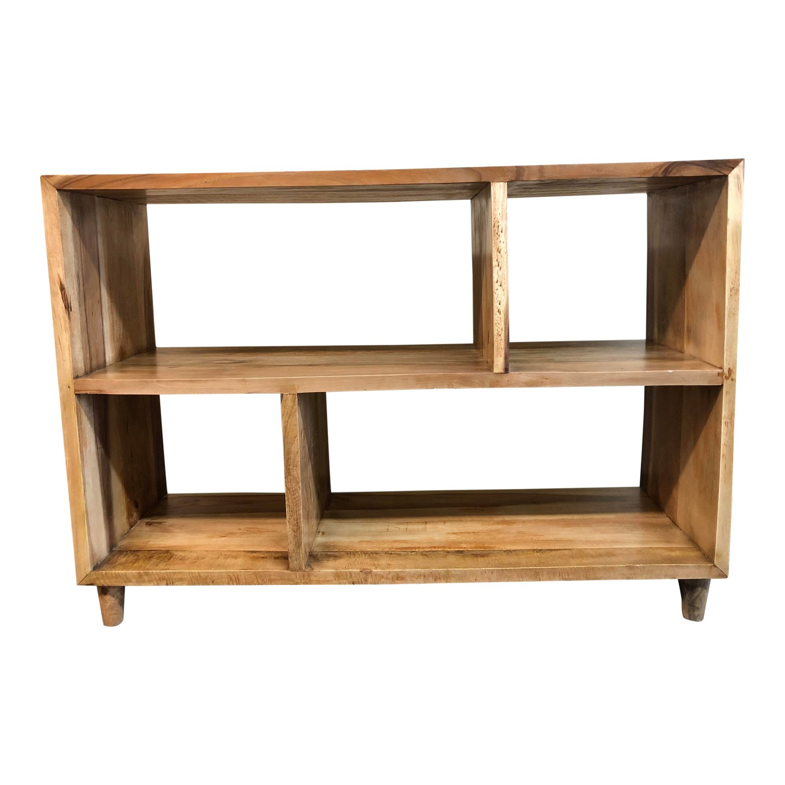 Reclaimed Hardwood Contemporary Console Bookshelf