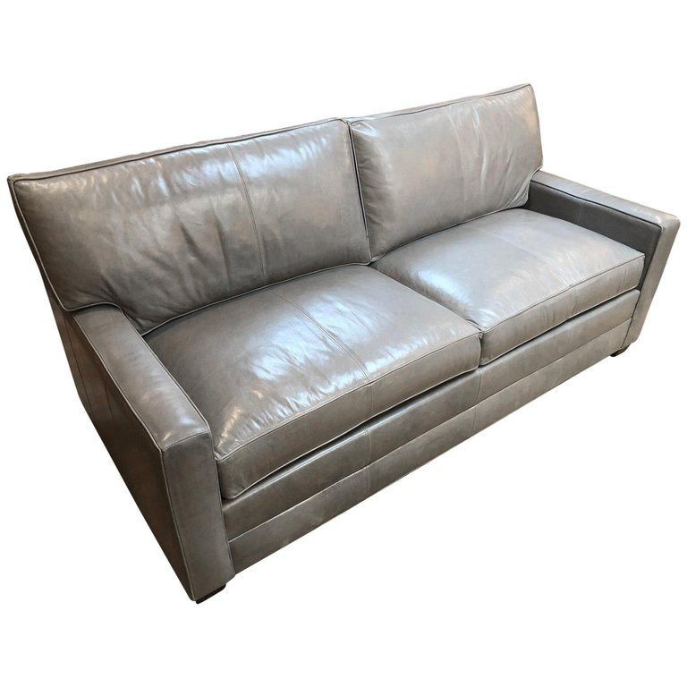 Bennett Leather Sofa From Ethan Allen Original Price
