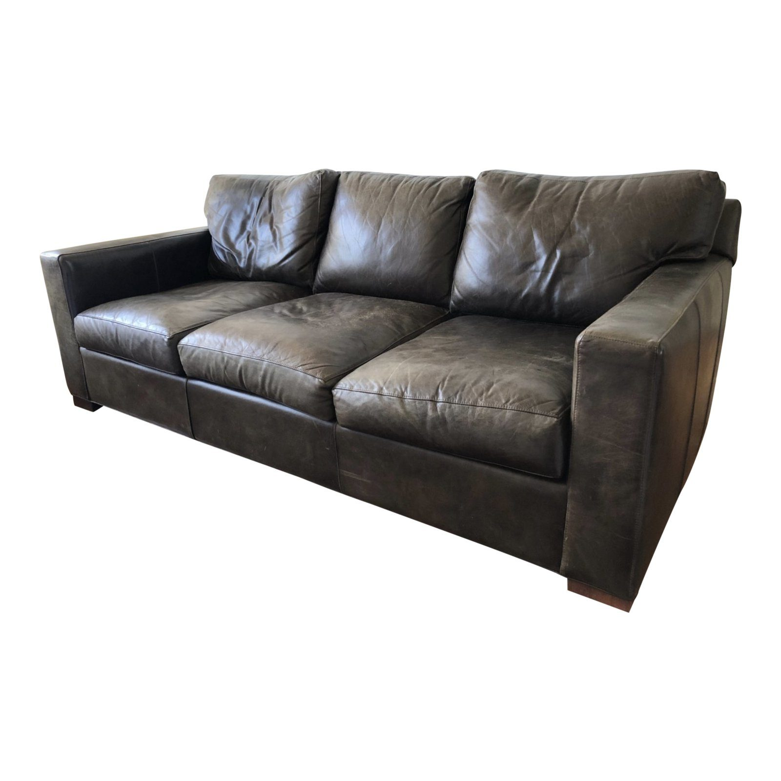 Brown Leather Sofa From Crate Barrel Original Price 3 300