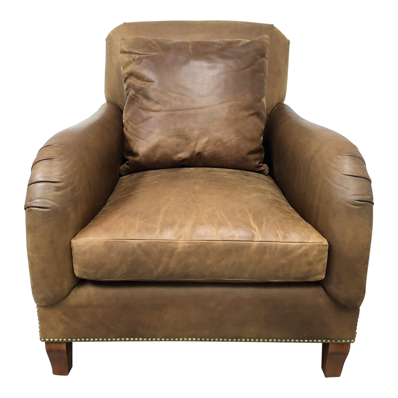 Stupendous Distressed Leather Club Chair By Ralph Lauren Home Design Camellatalisay Diy Chair Ideas Camellatalisaycom