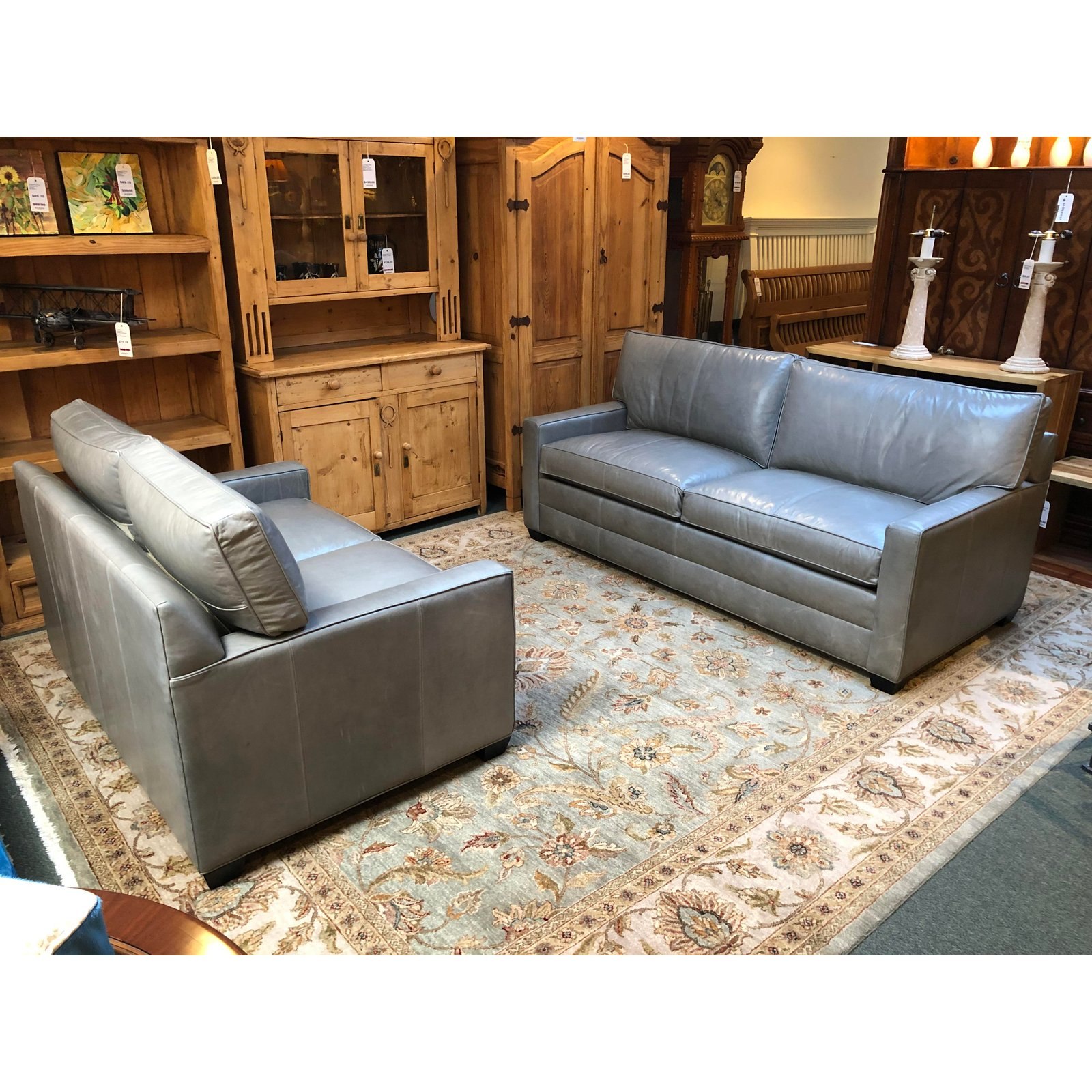 Bennett Leather Sofa From Ethan Allen. Original Price: $3,800 ...