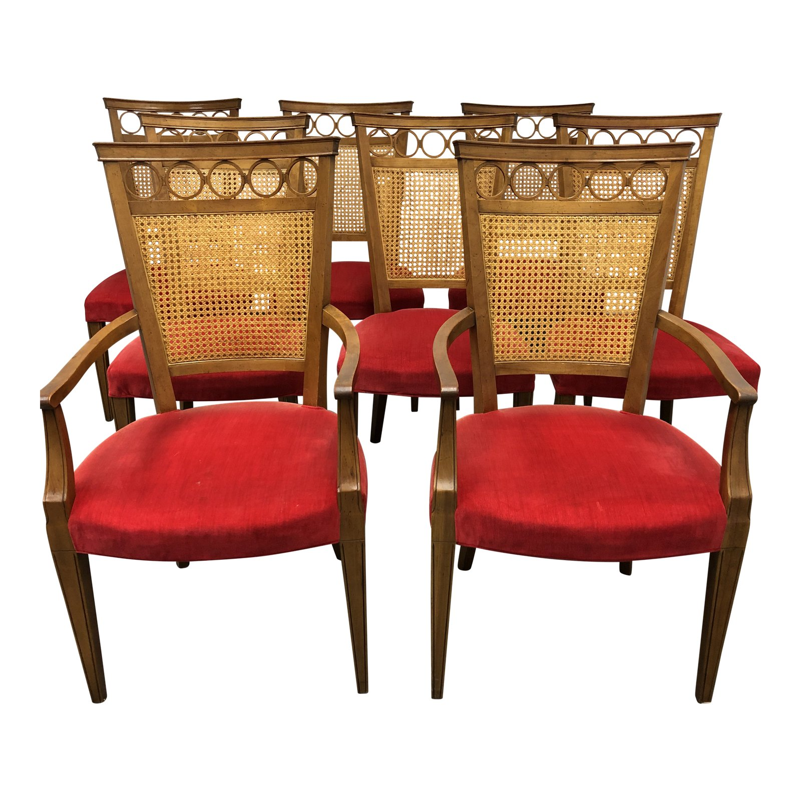 Peachy Set Of 8 Baker Furniture Caned Back Dining Chairs Design Ocoug Best Dining Table And Chair Ideas Images Ocougorg