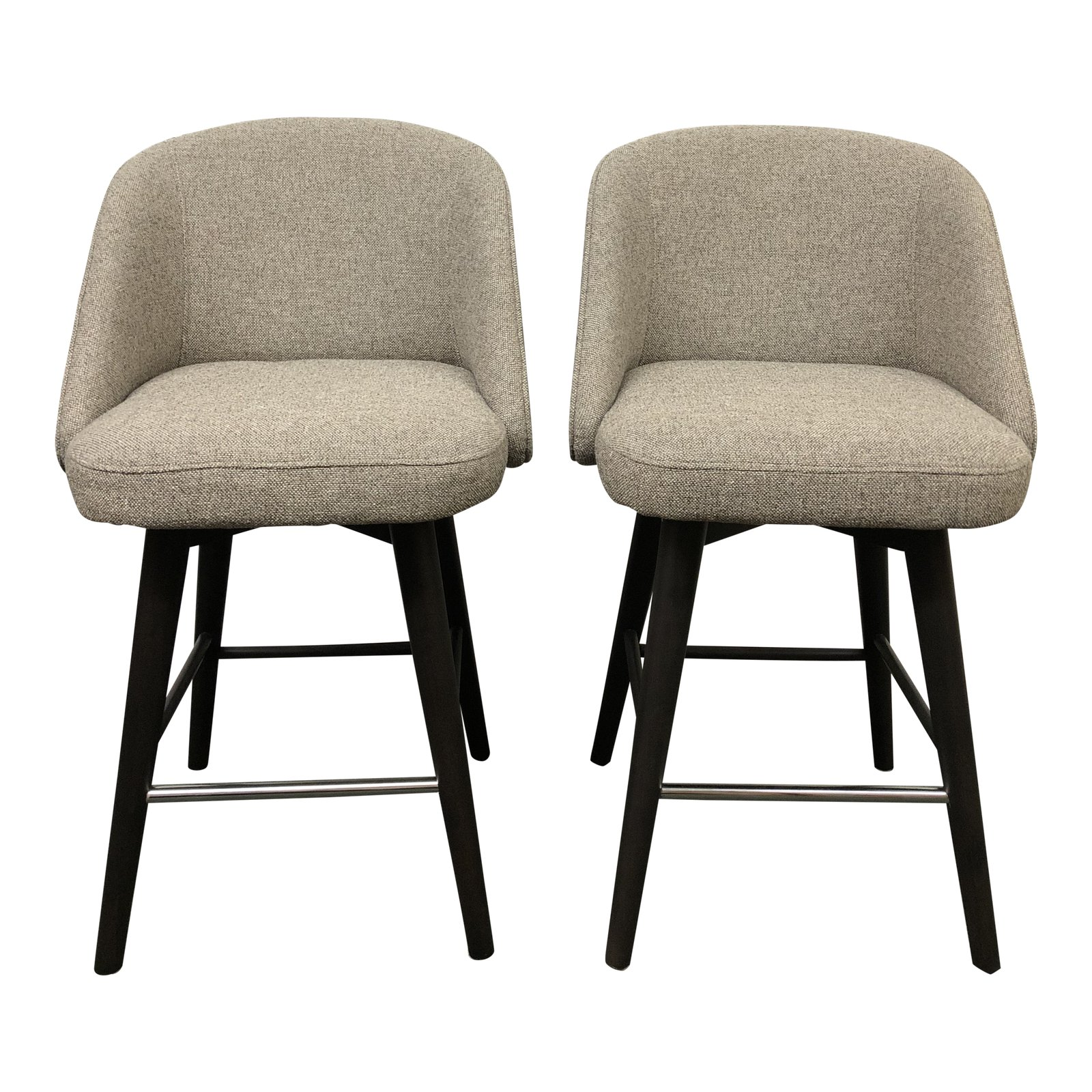 Room And Board Bar Stools: Pair Of Cora Counter Stools, By Room & Board. Original