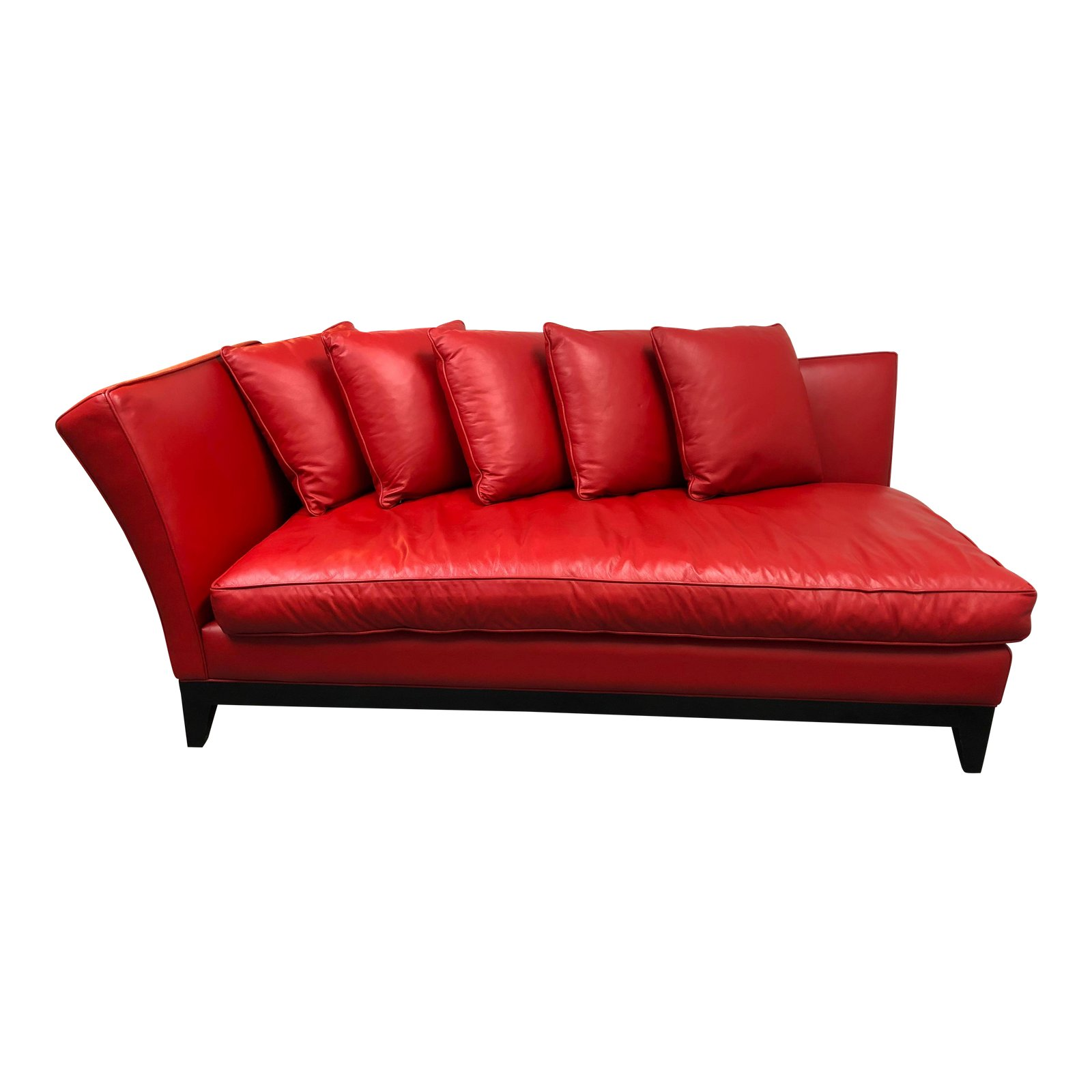 Custom Red Leather Chaise Sofa Lounge. Original Price: $10,000 ...