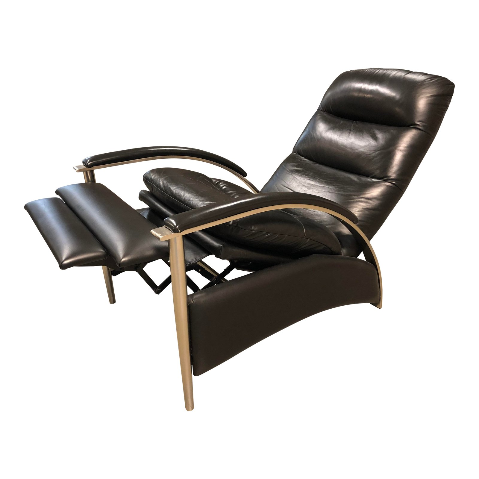 Ethan Allen Radius Black Leather Recliner Original Price