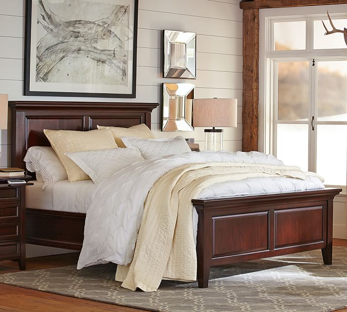 Pottery Barn Beds: Pottery Barn Hudson Queen Size Bed Frame. Original Price